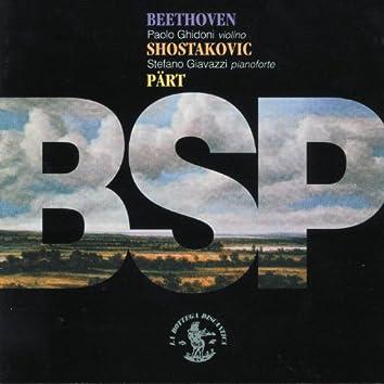 Beethoven, Shostakovic & Pärt : BSP