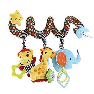 TOYMYTOY Cama Cochecito Juguete Espiral Actividades Juguetes Colgando Cuna Sonajero Bebé Kids Juguetes Educativo Peluche…