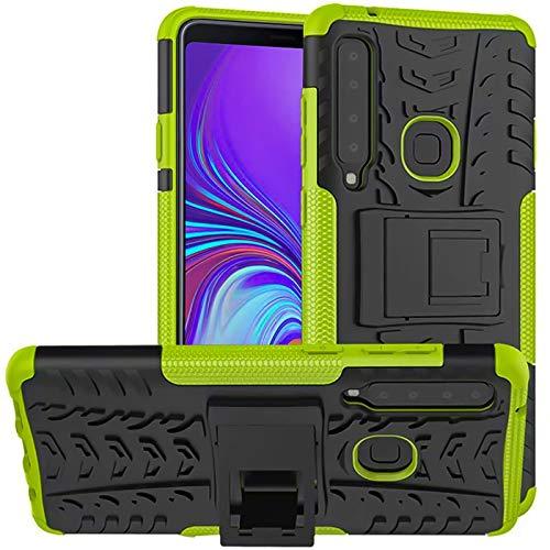 Verco Schutzhülle für Samsung Galaxy A9 (2018) Hülle, Armor Outdoor Handyhülle für Galaxy A9 (2018) Hülle Panzer Hardcase [Cover geeignet für Baustelle], Grün