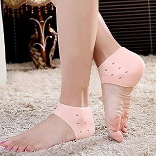 Primevilla® Anti Heel Silicone Heel Anti Crack Vented Moisturizing Silicone Gel Heel Socks for Swelling, Pain Relief, Foot...