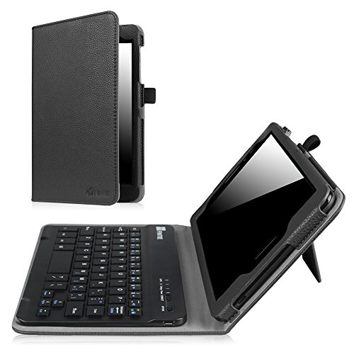 Fintie AT&T Trek 2 HD Keyboard Case (Model 6461A) - Premium PU Leather Folio Stand Cover with Removable Wireless Bluetooth Keyboard for ZTE ZPad 8 K81 8 inch 4G LTE Android Tablet 2017 Release, Black