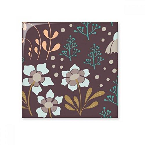 DIYthinker Planta de flor marrón pintura brillante baldosa cerámica de baño Cocina muro de piedra decoración artesanal de regalo