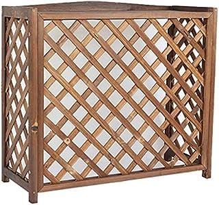 Fácil instalación Flor de madera del soporte del marco decorativo Aire acondicionado Radiador cubierta, la cubierta de aire acondicionado marco externo de almacenamiento Tiesto, Tamaño: A85 * 35 * 75c