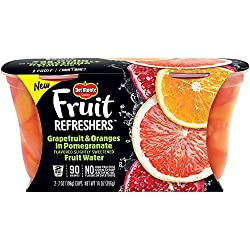 Del Monte Refreshers Grapefruit and Oranges in Pomegranate Fruit Water Cups, 14 Ounce (Pack of 2)
