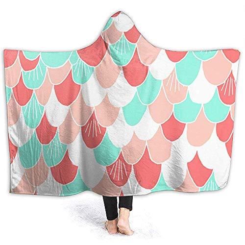 Nazi Mie Hoodie-Decken-super warme weiche gemütliche Wurfs-Verpackung für Bettsofa, schöne Bunte Meerjungfrau stuft Decke EIN
