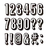 Sizzix Set de Troqueles Thinlits 21 pzas 664808 Alfanumérico números de sombra de Tim Holtz, Talla...