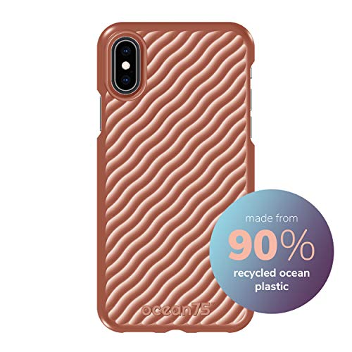 Ocean75 Umweltfreundlich Designed für iPhone X, iPhone XS Hülle, Ozean-inspirierte nachhaltige Handyhülle aus recycelten Fischernetzen - Koralle Pink