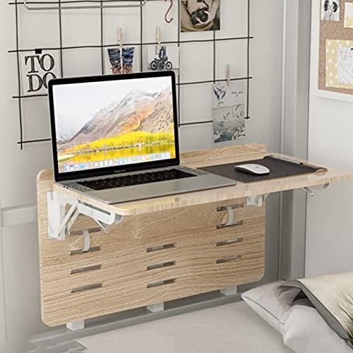 ADASP Mesa Plegable De Pared Mesa Plegable para litera, Escritorio portátil para computadora portátil para Cama, Mesa de Almacenamiento para Dormitorio con Soportes Plegables, Mesa de Cama para Come