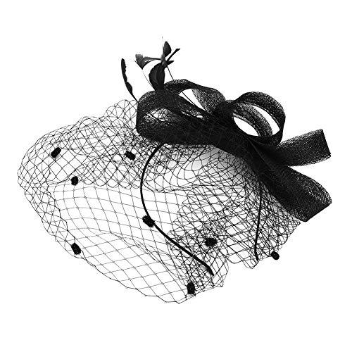 IBLUELOVER Peluquería Mujer Sombrero Boda Novia Diadema Nupcial Voilette Malla Diadema para...