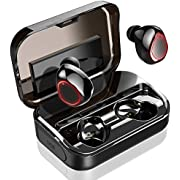 Bluetooth Kopfhörer, In Ear Kopfhörer Kabellos IPX8 Wasserdicht 3500mAh mit LED Display 132H Spielzeit, HD-Stereo True Wireless Kopfhörer mit Mikrofon, Sport Kopfhörer In-Ear für iPhone Android