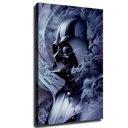 Star Wars Poster Darth Vader The Dark Lord of Sith HD Canvas Wall Art Paintings (24x36inch,No Framed)