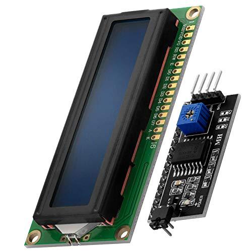 AZDelivery HD44780 16x2 LCD Modul Display Bundle mit I2C Schnittstelle 2x16 Zeichen inklusive E-Book! (mit Blauem Hintergrund und Weißen Zeichen)