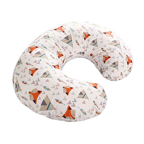 Funda de almohada para bebés lactantes, funda de almohada de algodón suave para bebés, funda de almohada removible para el embarazo(Zorro naranja)