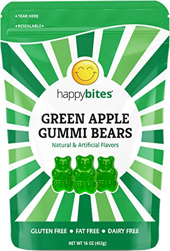 Happy Bites Green Apple Gummi Bears