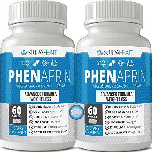 PhenAprin Diet Pills (Pack of 2) – 2X Potent Thermogenic Fat Burner & Energy Booster: Weight Loss Management Boost for Metabolism Support Appetite Suppressant Mood & Brain Function for Men or Women