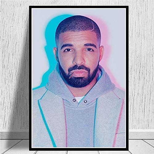 Flbyqv DIY 5d Diamante Kit de Pintura,Hip Hop Rap Music Rapero Estrella 30x45cm,Resina Cristal Bordado de Cuadros de Punto de Cruz