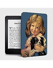 Artispro 2018年発売Kindle Paperwhite第10世代用 ケース カバー 自動ウェイク/スリープ 可愛い 軽量 薄型 耐衝撃ケース 最新PUレザースマートカバー (猫ガールス)