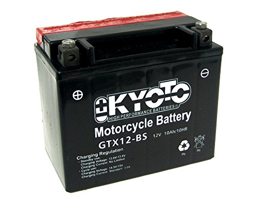 Batteria Kyoto GTX12-BS MF senza manutenzione YTX12-BS 12 Volt