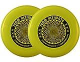 DA VINCI 2 Disc Set, Team Ultimate 175 Gram Flying Sport Disc (Goldenrod)