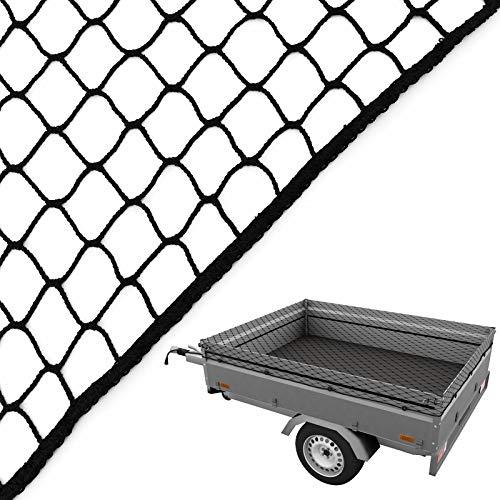 Caretec Anhängernetz 2,00 x 3,00 m Gepäcknetz Abdecknetz zur Ladungssicherung Netz Sicherung Pkw Anhänger inkl. Expanderseil