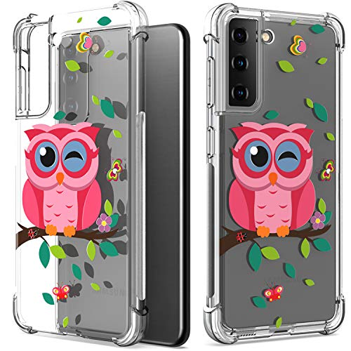 CoverON Designed for Samsung Galaxy S21 Plus 5G Case, Slim Flexible TPU Clear Phone Cover - Owl