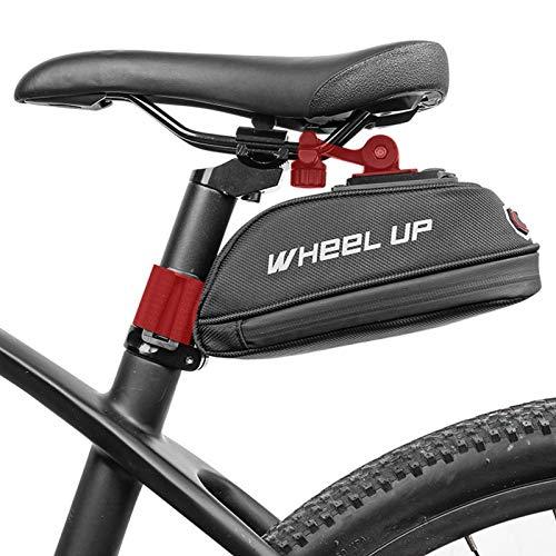 Pomrone Bolsa Bicicleta Trasera Impermeable Bolsa De Sillín De Bicicleta Bolsa Tija, Diseño Reflectante Y De Capa Intermedia Soporte Estable Sin Herramientas De Instalación, para Varias Bicicletas