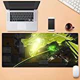 Tonjaberg Precision Suture Edge Mouse pad / Genji Cut Game Mouse pad / XL XXL Anime Mouse pad Non-Slip / Anti-Dirty / Office Mouse pad-31.4 inch × 11.8 inches (800 mm 300 mm)