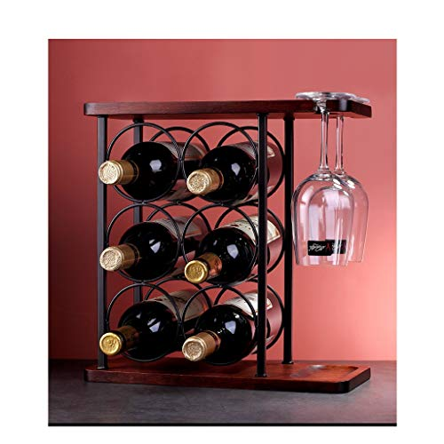 WJCCY Estante de Vino de Madera Maciza Decoración de Botella de Vino Simple Estante de Vino Decoración de decoración Decoración de la Botella de Vino.