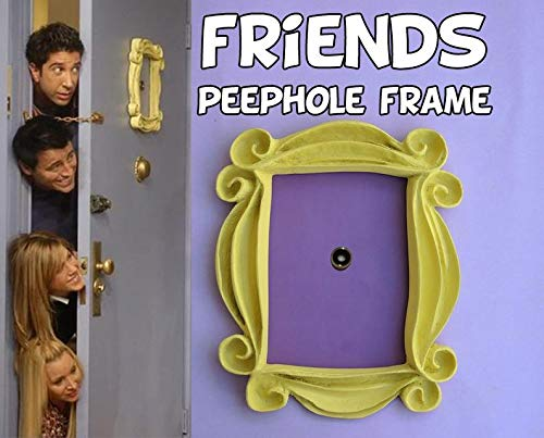 Yellow Picture Frame by J.Ehonace – Monica's Mirror Door Frame – Peephole Décor – Picture Frame from Monica and Rachel's Apartment – TV Show Memorabilia Frame – 10 x 8-inch Handmade Resin Replica