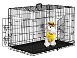 BestPet 42' Wire Metal Folding Pet Dog Cage Crate Kennel W/2-doors w/ABS Plastic Removable Tray