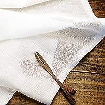 Cadeau屋 ハンドメイド用生地 150cm巾 無地 ホワイト リネン100% R0296