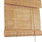 ZXL Der Rollschirm, Außen Bambus Rollo mit 60% UV-Schutz Privatsphäre für Porch Patio Pergola Hinterhof (Size : 80cm×160cm)