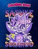 Coloring Book: NARUTO SASUKE SUSANOO BOOTLEG, Children Coloring Book, 100 Pages to Color