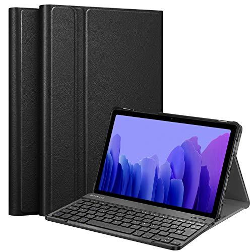 Fintie Funda con Teclado Español Ñ para Samsung Galaxy Tab A7 10.4' 2020 (SM-T500/T505/T507) - Carcasa con Soporte y Teclado Español Bluetooth Inalámbrico Magnético Desmontable, Negro
