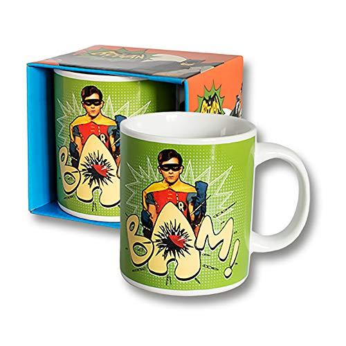 Preis am Stiel 1 x Becher ''Batman 1966 Robin'' | Kaffeebecher | Kaffeetasse