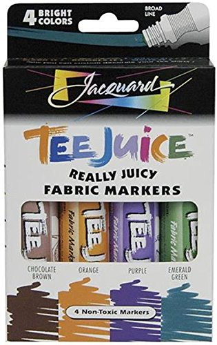 Tee-jus tissu marqueurs 4/Pkg-Brights