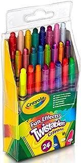 Crayola 绘儿乐 儿童24色可拧转旋转蜡笔金属色彩虹色霓虹色52-9824