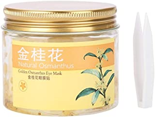 Under Eye Mask, 30 Pairs Collagen Eye Patches 100% Natural Eye Pads Gold Osmanthus Eye Mask for Anti-Aging Relieve Fatigue and Taut Skin Removes Dark Circles, Eye Bags & Moisturizing