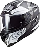 LS2 - Casco integral para moto, Challenger Allert, titanio, gris, L