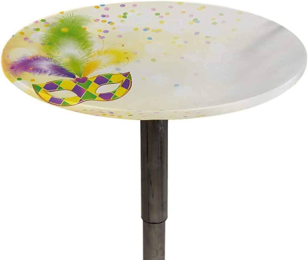 Elasticized Tablecloth Mardi Gras Table Cover Cheap bargain Printing Festival Bombing new work
