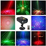 LED Stage Lights Party Lights RGB 3 Lens DJ Disco Club Stage Laser Light Sound Activated Led Projector for Halloween Christmas Decorations Birthday Wedding Party Gift Karaoke KTV Bar
