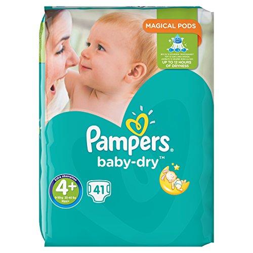 Pampers Baby-Dry Windeln Mini 9–18kg Größe 4+ 41teilig