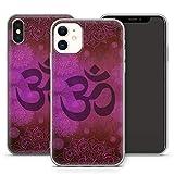 Handyhülle Om für Apple iPhone Silikon MMM Berlin Hülle Hippie Yin Goa Mandala Peace Yoga Qigong, Hüllendesign:Design 3 | Silikon Klar, Kompatibel mit Handy:Apple iPhone Xr