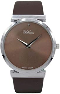 Charisma Analog Leather Watch For Men - silver