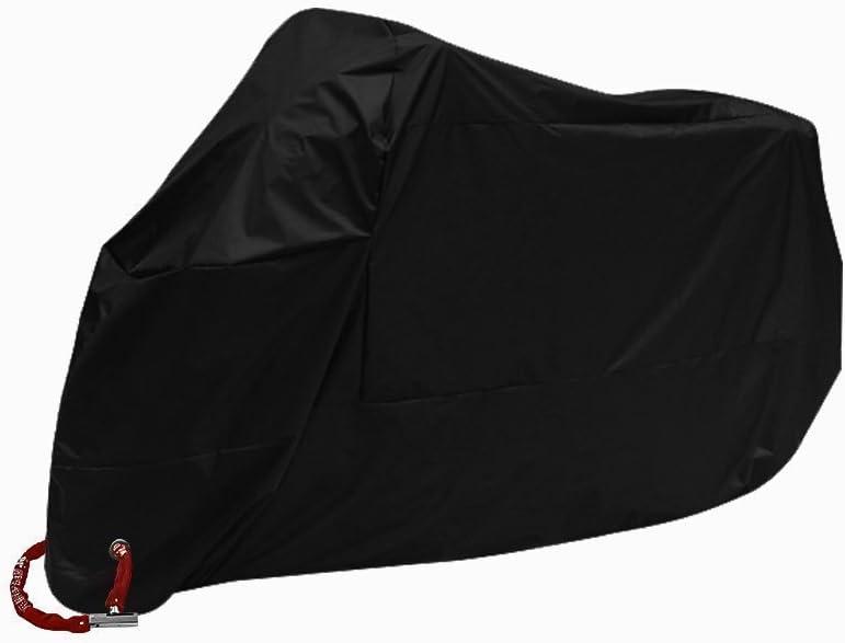 Bestland Motorrad Abdeckung Wasserdicht Staubdicht Uv Schutz Atmungsaktiv Sunblocker Motorradplane Cover Outdoor Roller Abdeckplane Schwarz 3xl Auto