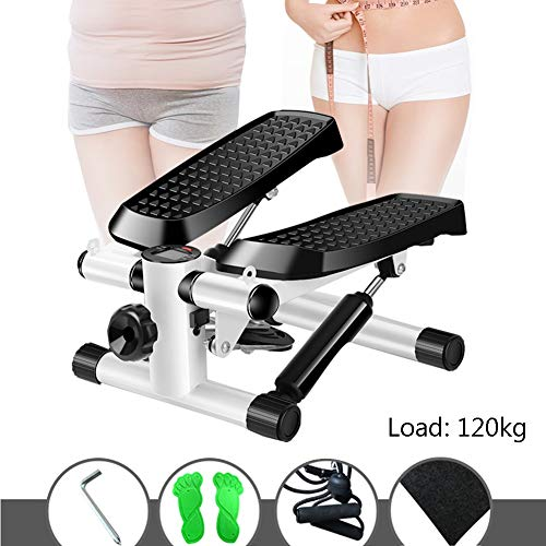 DFGENLY Stepper D'appartement, Multifonctionnel Mini Steppers Fitness Aerobic d'escalade Machine Elliptique Ménages Matériel de Sport Réglable, Charge 120kg