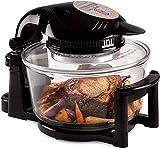 Andrew James 12 - 17 Litre Black 1400W Digital Halogen Oven Cooker With Hinged Lid | Full...