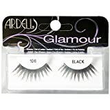 Ardell Glamour Eye Lashes, Black [106] 1 ea (Pack of 4)