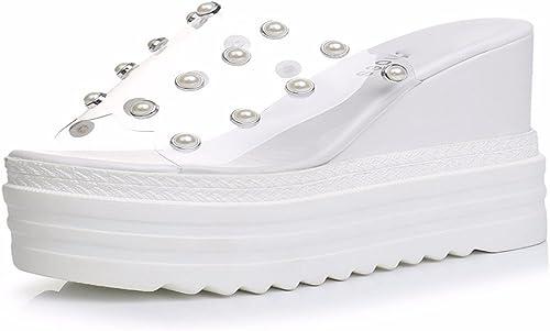 HBDLH Chaussures pour Femmes en été L'Extra - Porter des Chaussons Gateau Et Les Pantoufles sont épais.