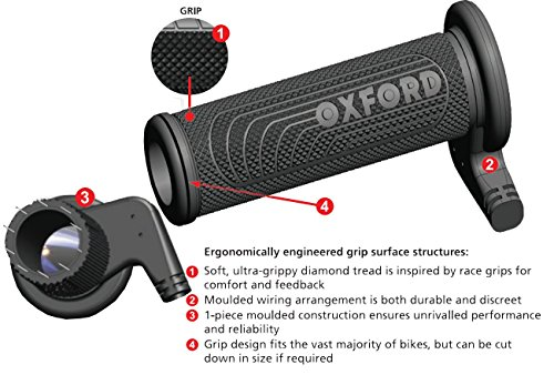 Oxford OF692Z Heaterz Premium Sports Heated Handlebar Grips